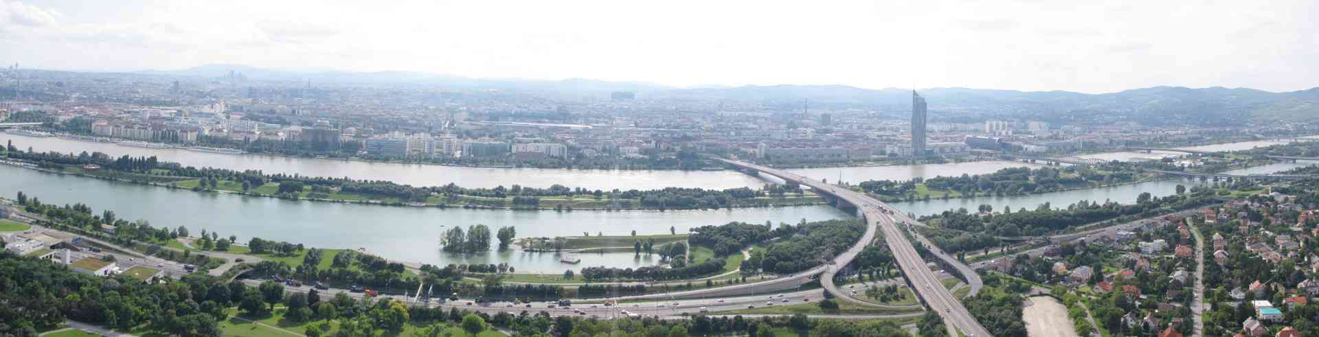 Panorama Wien Donauinsel, Foto: Keule1978, CC BY-SA 3.0