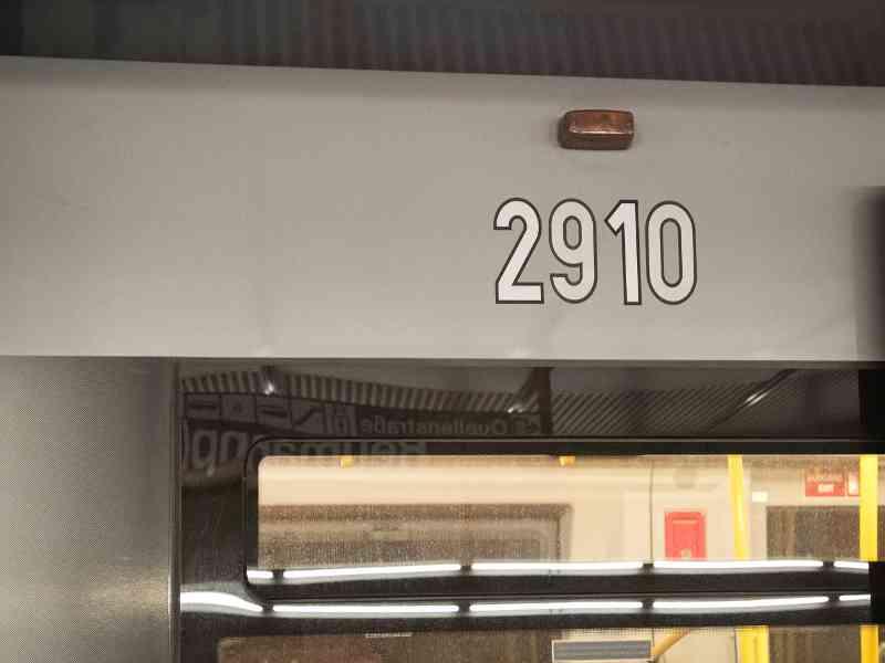 V-Zug Wagennummer außen
