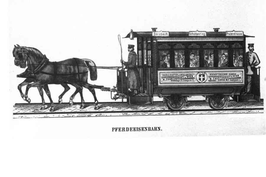 Pferdebahnwagen Dornbach Schottenring Praterstrasse