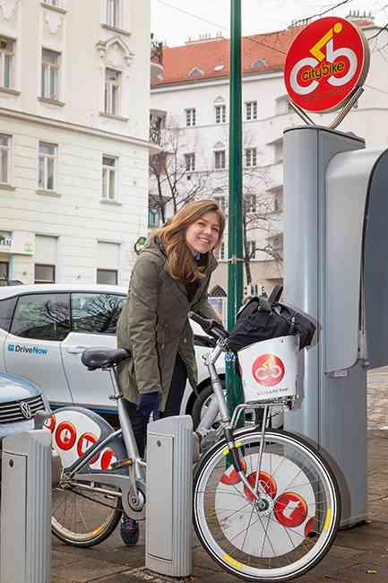 Die letzte Etappe absolvierte Lisa dann noch mit einem Citybike.