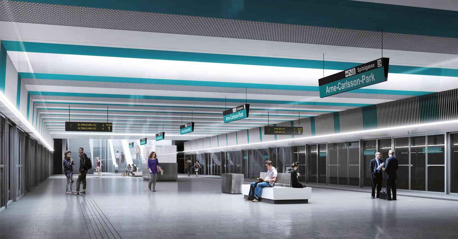 Die zukünftigen, neuen Stationen der Linie U5 werden auch mit Bahnsteigtüren ausgestattet.