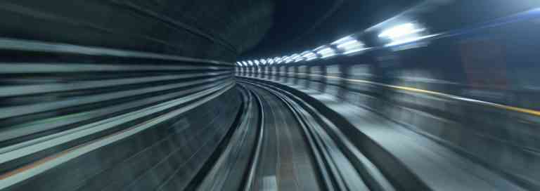 Blick in den U-Bahn-Tunnel