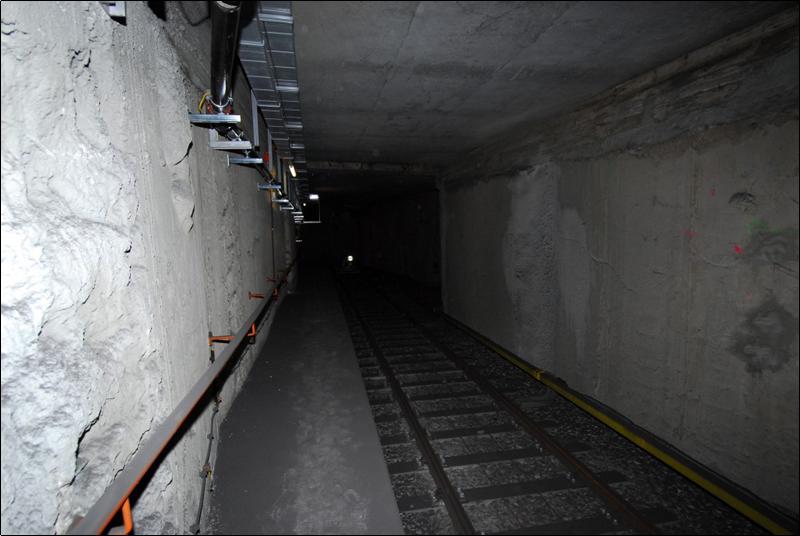 Ein Verbindungtunnel in Wiens Untergrund.