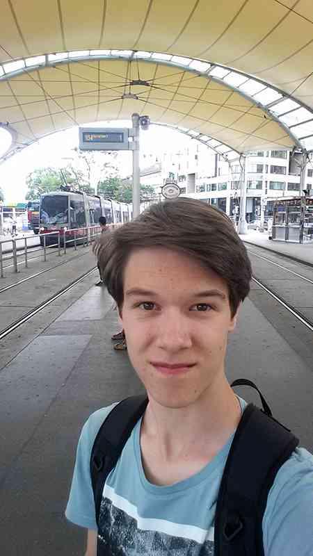 Die Befahrung des Wiener-Linien-Netzes führte den 16-jährigen Christoph auch auf den Urban-Loritz-Platz.