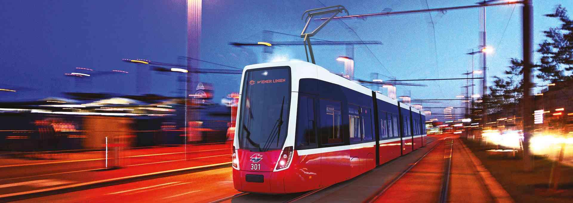 Die neue Bim für Wien ist modern und trotzdem im bekannten lieb gewonnenen Wiener Straßenbahn-Design gehalten