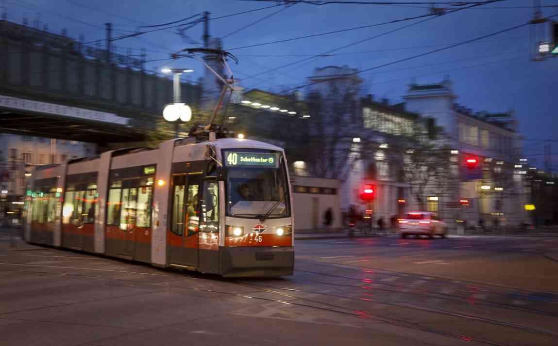 Nasses Laub kann den Bremsweg der Straßenbahn verlängern.