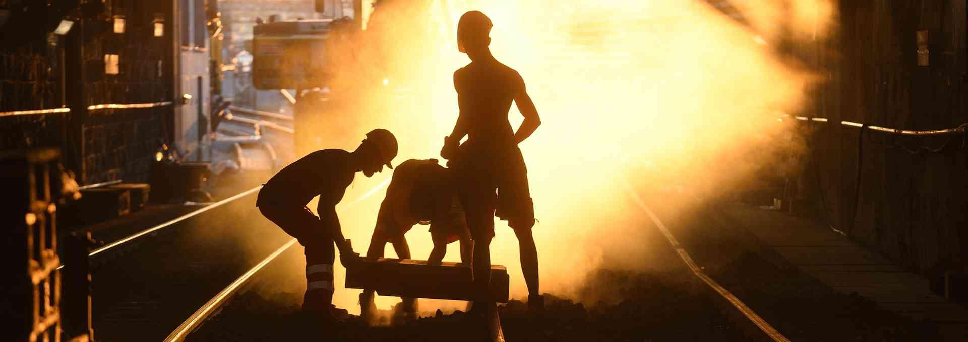 Bei den Bauarbeiten im Westen der U4 waren insgesamt 400 Arbeiter und Arbeiterinnen im Einsatz