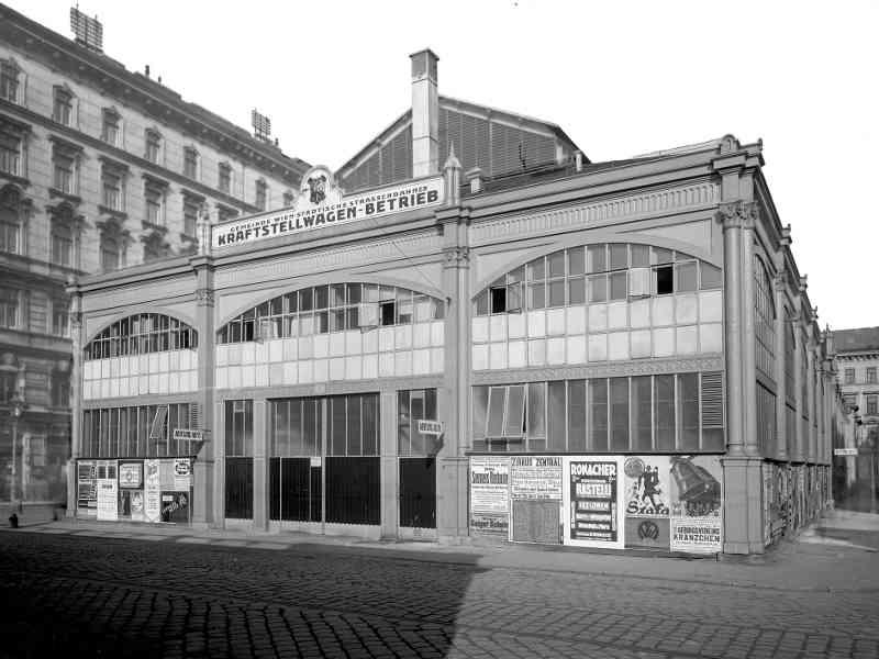 Die Garage Zedlitzgasse nutzten wir von 1925 bis 1942. Sie befindet sich im 1. Gemeindebezirk.