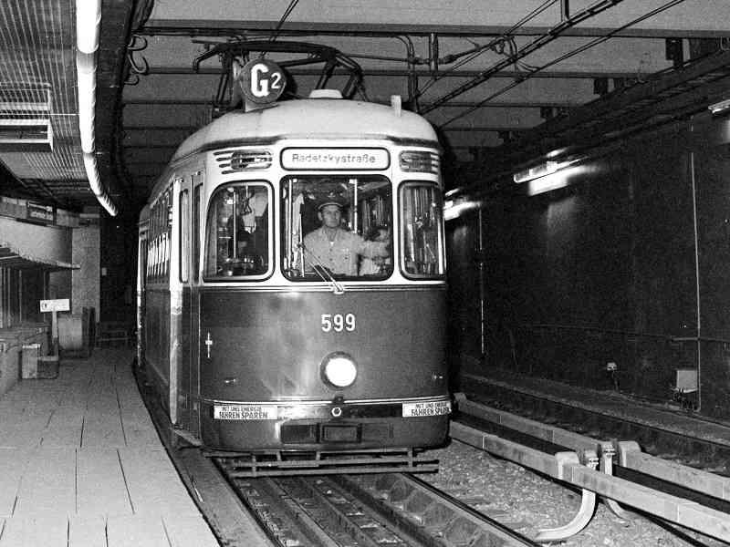 Zu Beginn war die Lerchenfelder Straße eine Station der Ustrab.