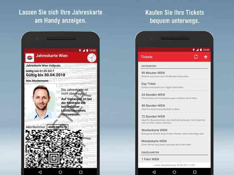 Mit WienMobil können Sie Wiener-Linien-Tickets kaufen und anzeigen lassen