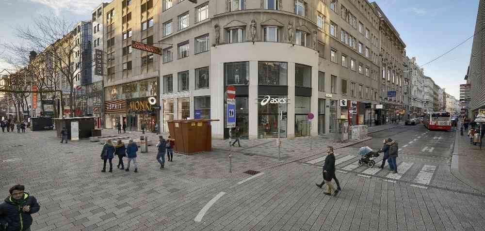 Hier gelangt man künftig zur U2. Die Mariahilfer Straße ist dadurch künftig noch besser erreichbar.