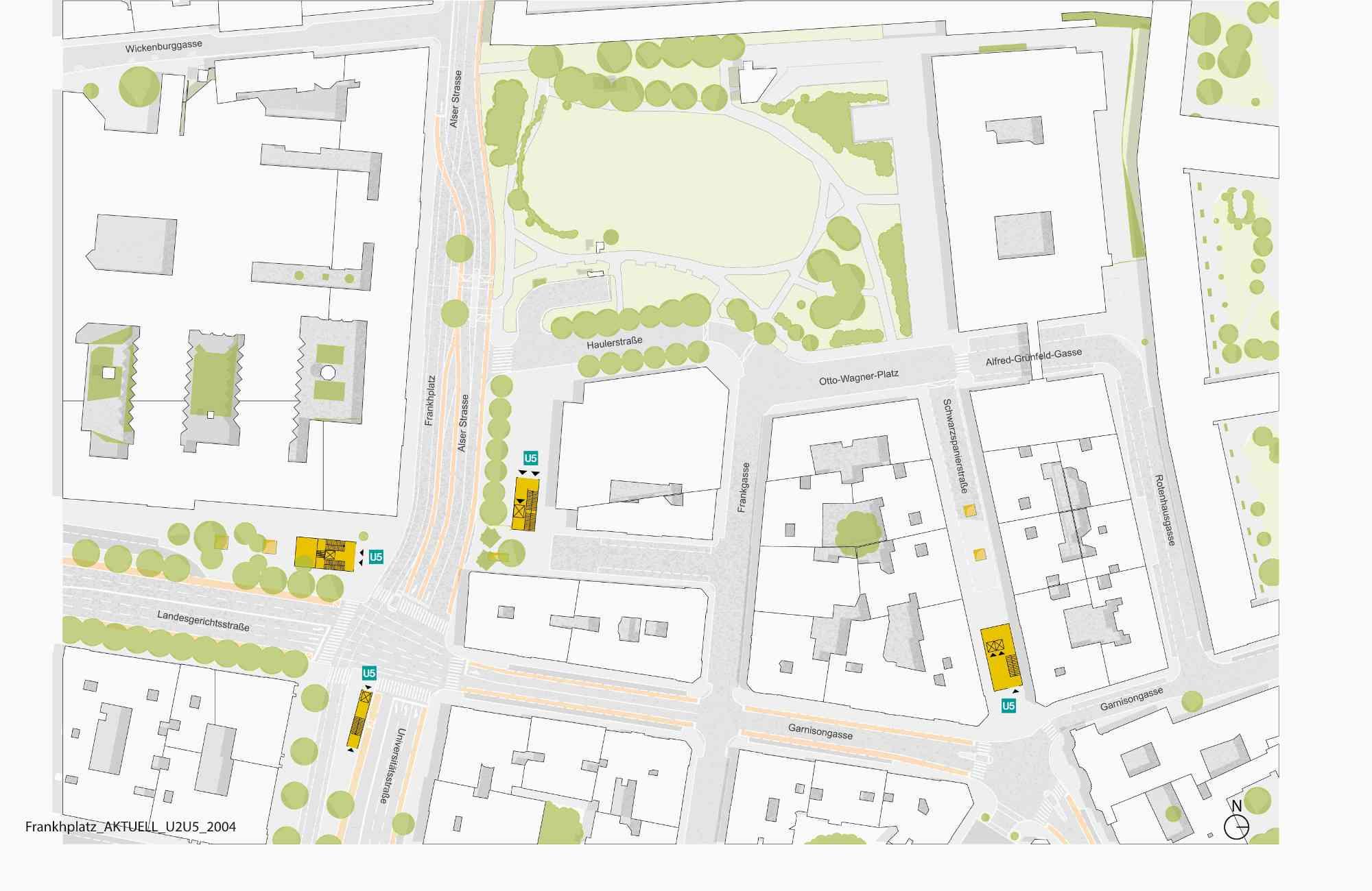 Damit alle Ziele im Umkreis möglichst unkompliziert erreichbar sind, entsteht unter dem Kreuzungsbereich von Landesgerichts- und Universitätsstraße eine Passage mit drei Aufgängen.