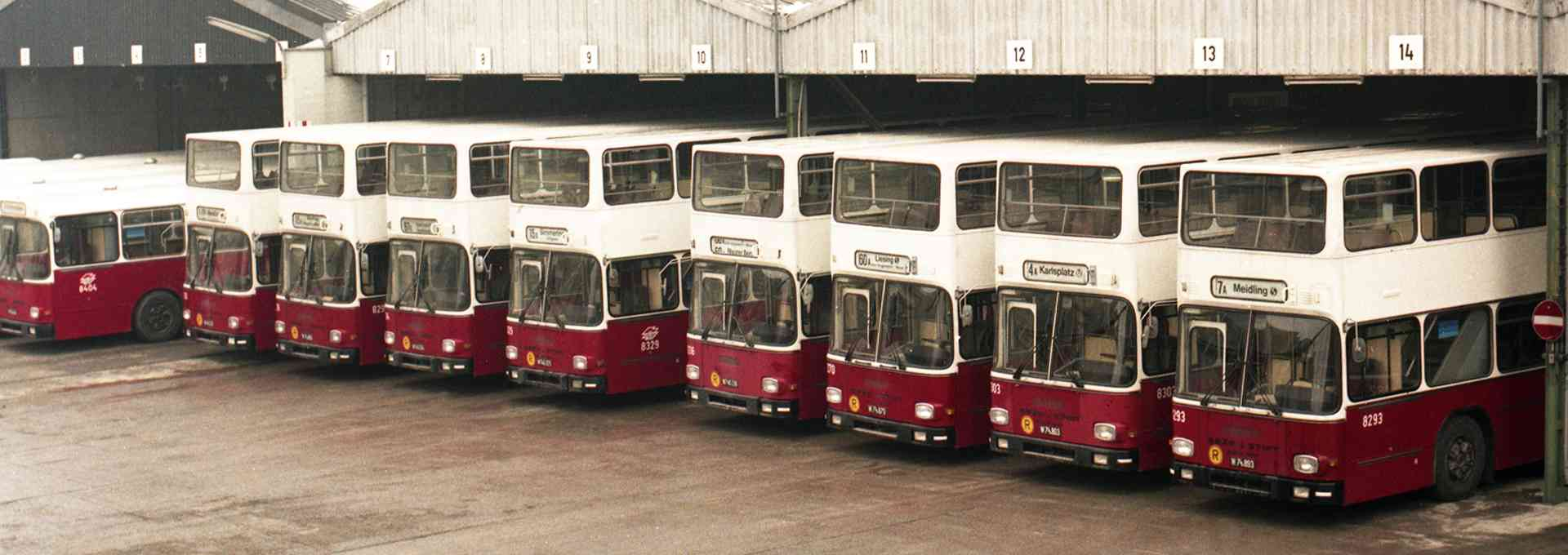 Zweistöckige Busse waren charakteristisch für die 80er.