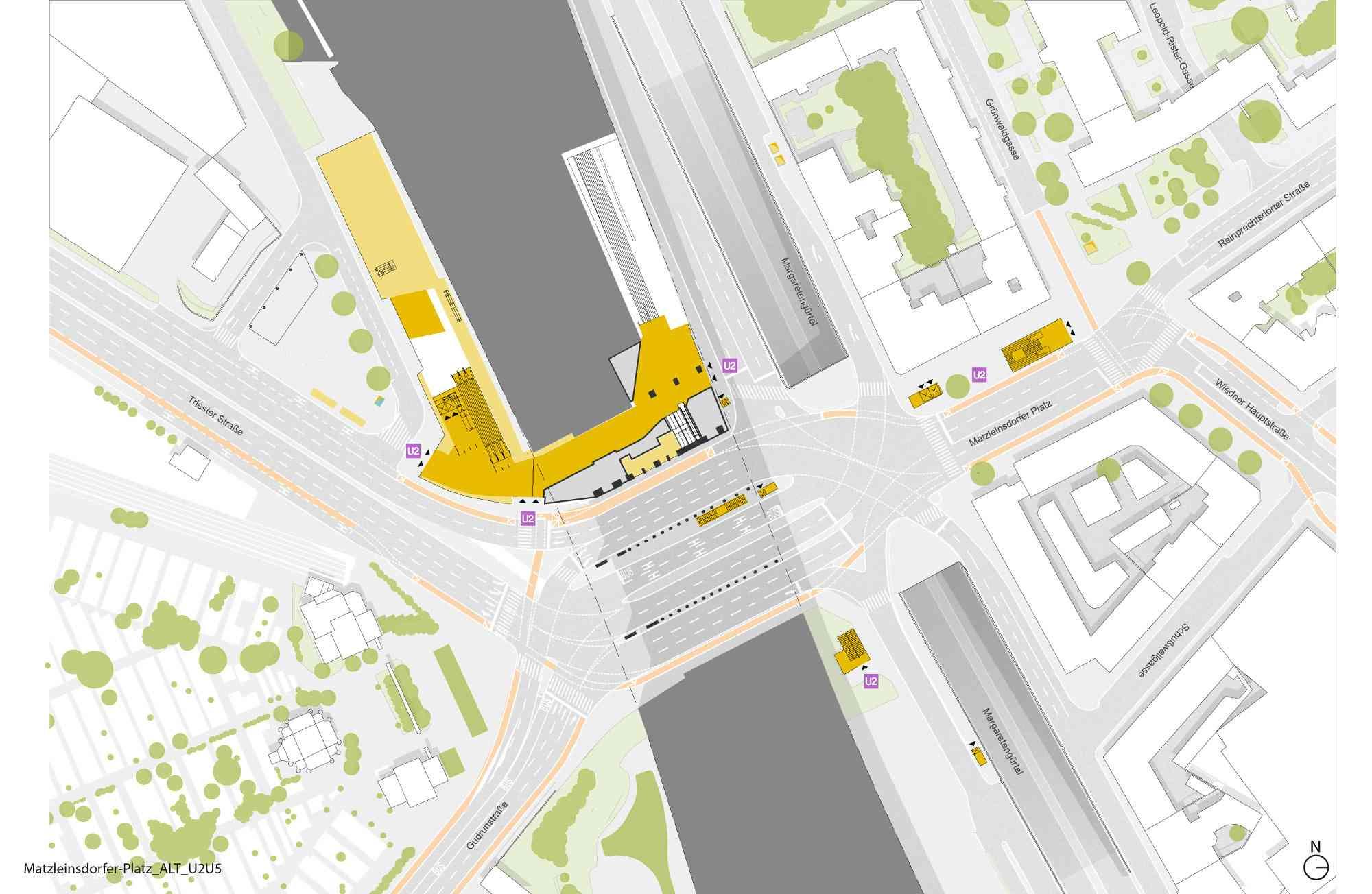 Der Matzleinsdorfer Platz ist schon heute ein wichtiger Öffi-Knoten. Mit der U2 gewinnt er weiter an Bedeutung.