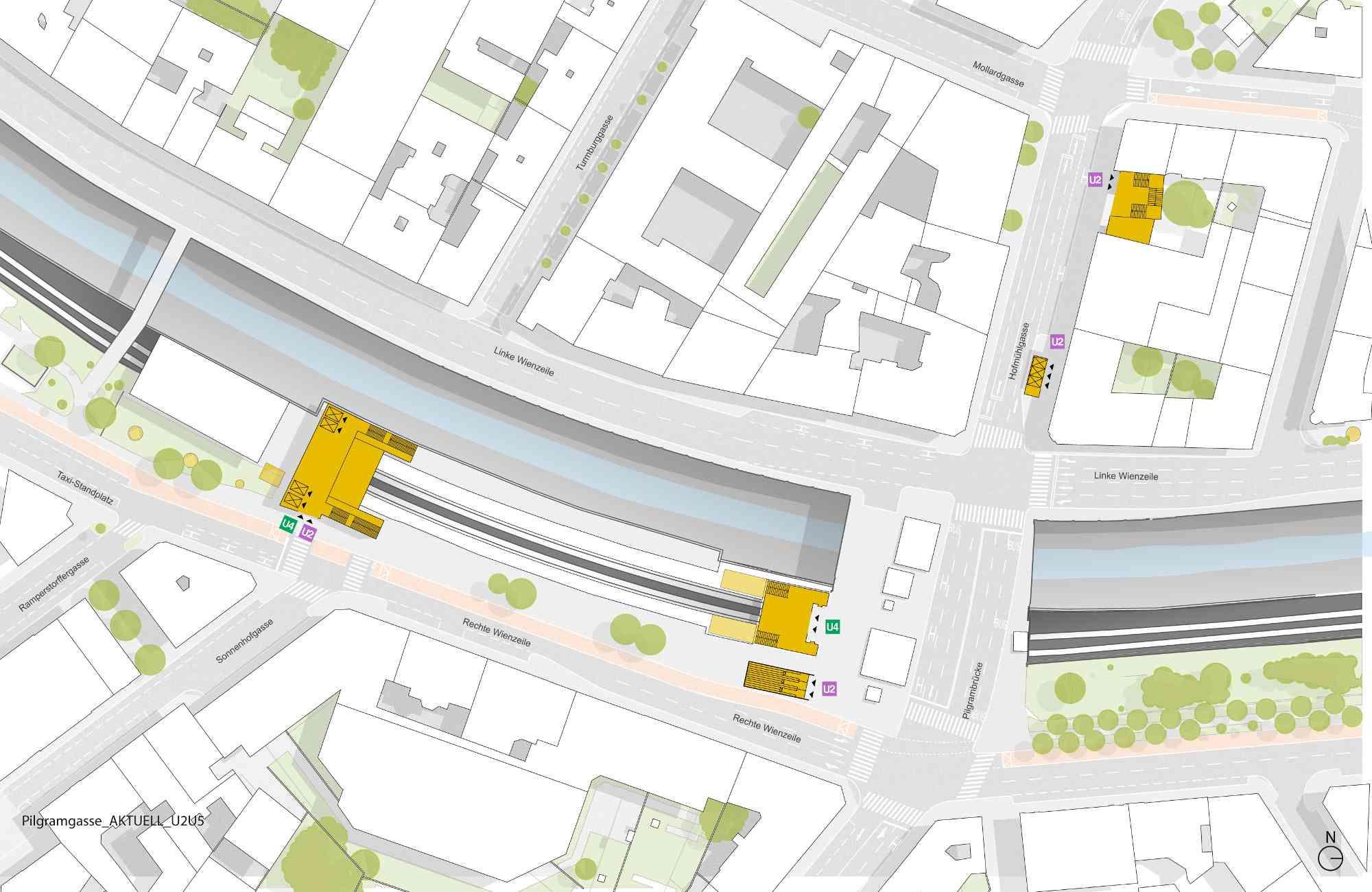 Aufgänge gibt es künftig auf beiden Seiten des Wienflusses: In der Hofmühlgasse im 6. Bezirk und höhe Sonnenhofgasse im 5. Bezirk.