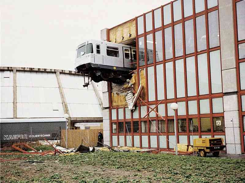 1992 Zwischenfall in der U1-Abstellhalle Kagran.