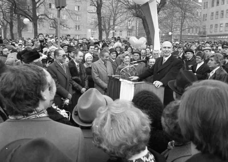 Die einzige U-Bahn-Eröffnung mit Bundespräsident: 25. Februar 1978