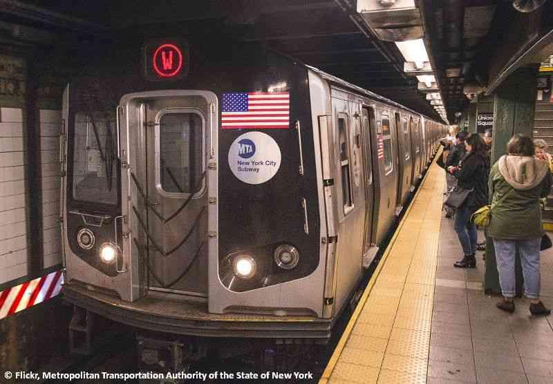 Über fünf Milliarden Fahrgäste transportiert die U-Bahn in New York jährlich.