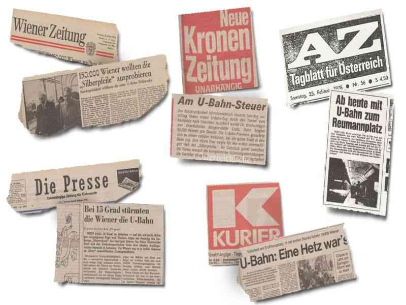 Schlagzeilen Tageszeitungen vom 26. Februar 1978