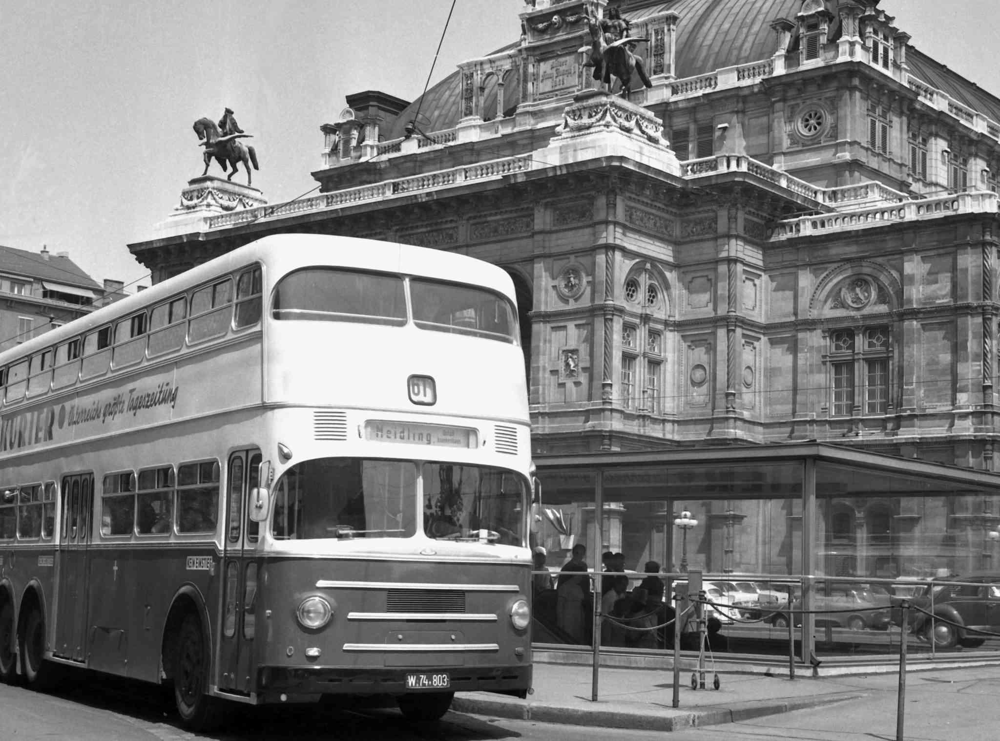Die legendären Busse fuhren vorwiegend in der Innenstadt.