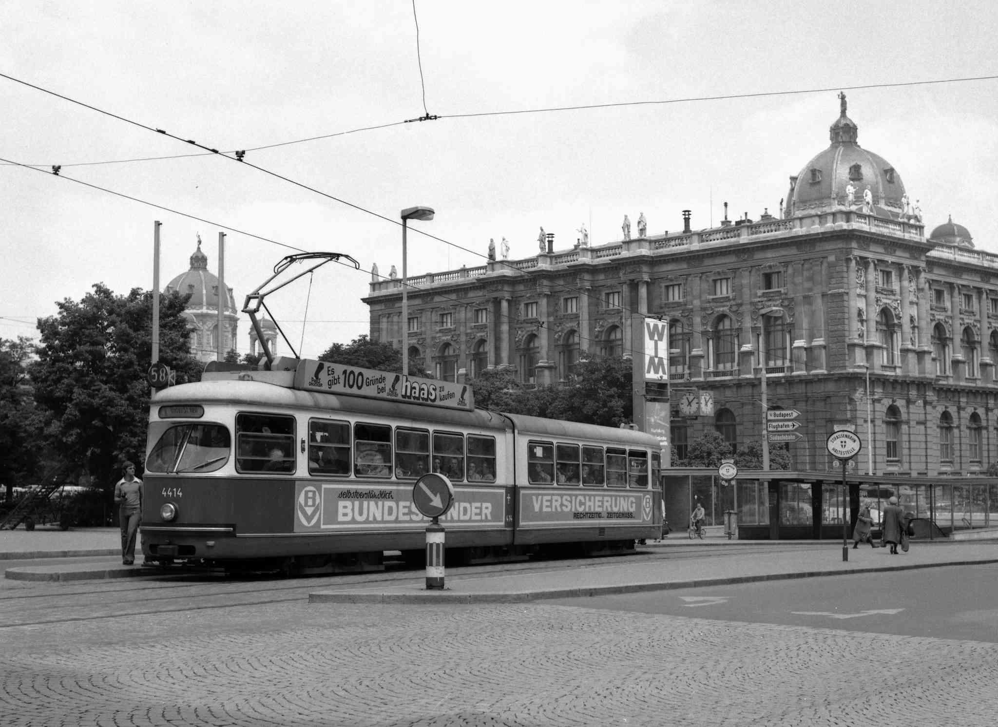 Die Linie 58 im Jahr 1975. 2017 verabschiedete sich die Straßenbahn in ihren wohlverdienten Ruhestand.