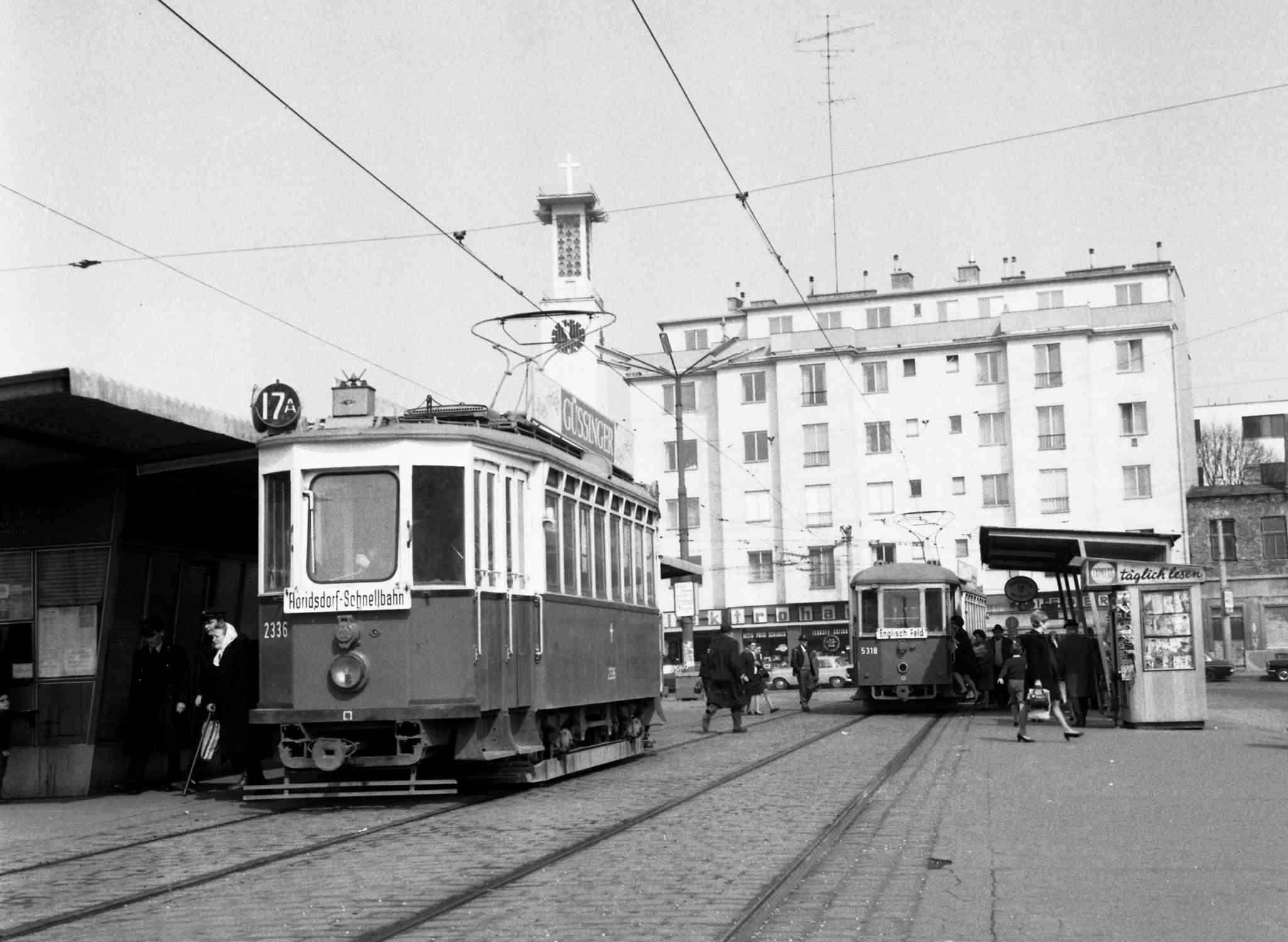 Am Schnellbahnhof Floridsdorf herrschte in den 70er Jahren reger Verkehr.