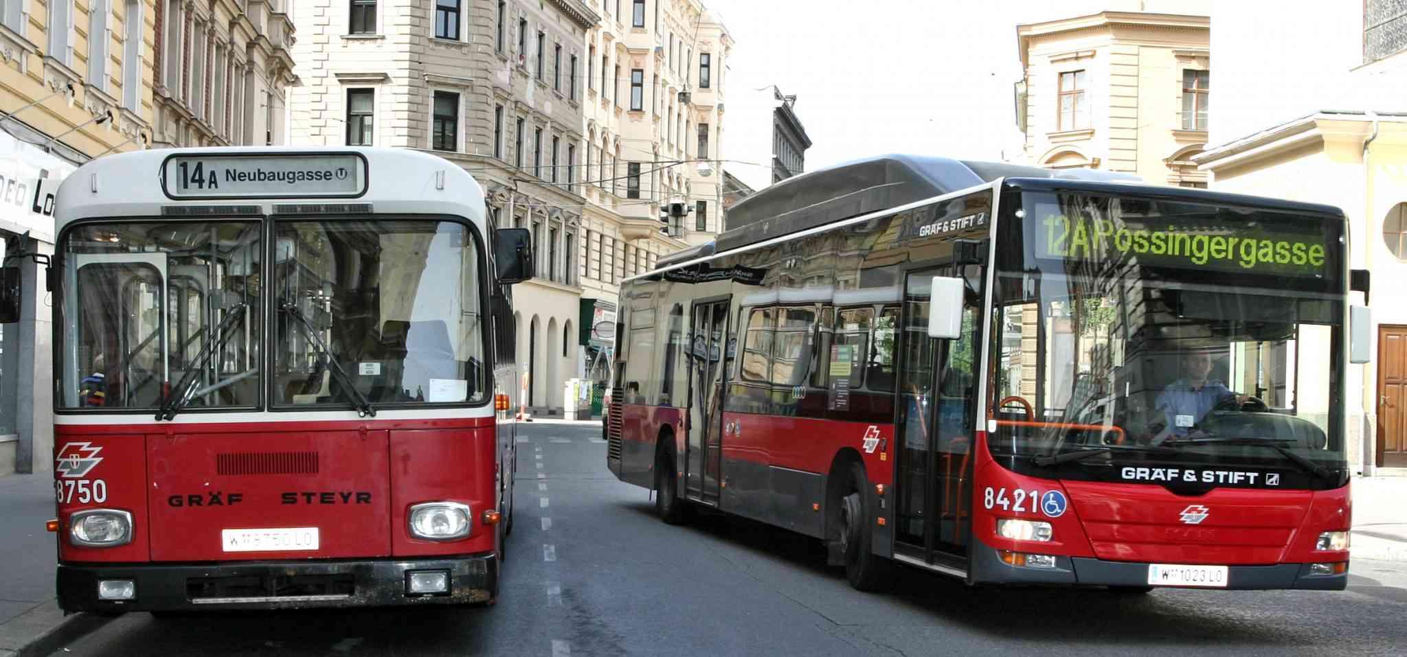 Die letzten Hochflurbusse waren bis 2007 in Betrieb.