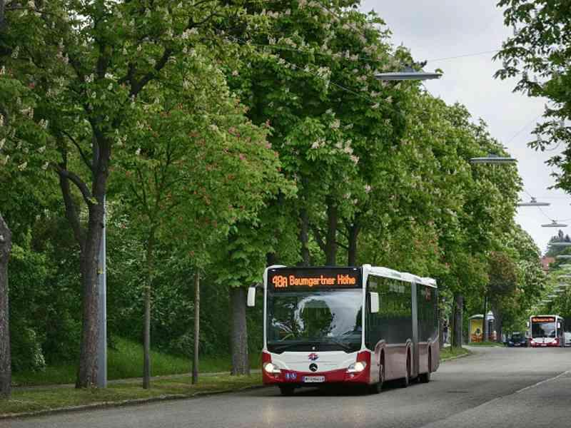 Seit dem Jahr 2014 sind die umweltfreundlichen Gelenkbusse auf der Linie 48A im Einsatz.