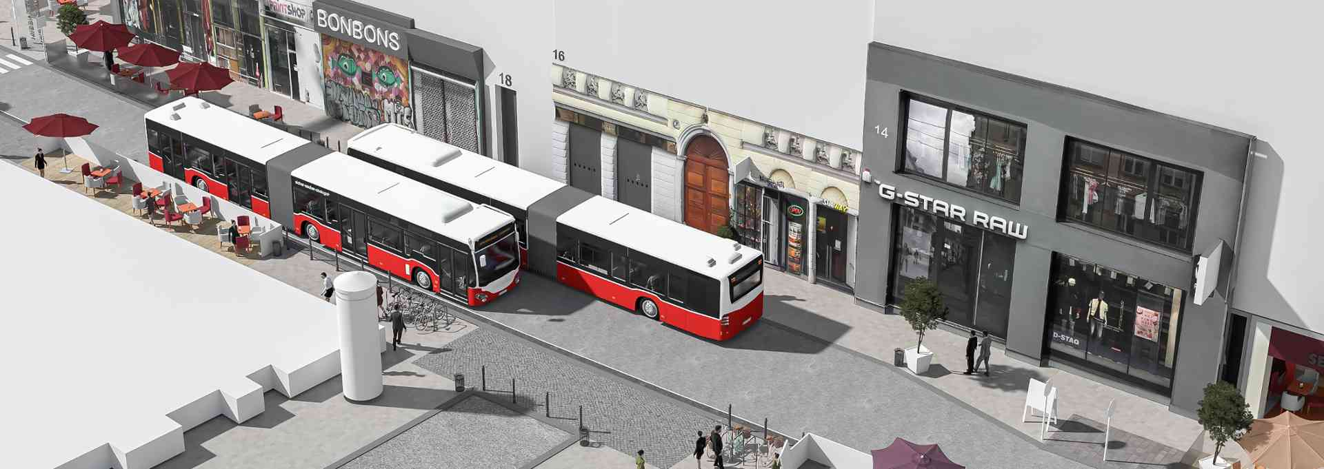 Die meistgenutzte Buslinie Wiens kann während des U-Bahn-Baus nicht über die Kirchengasse fahren.