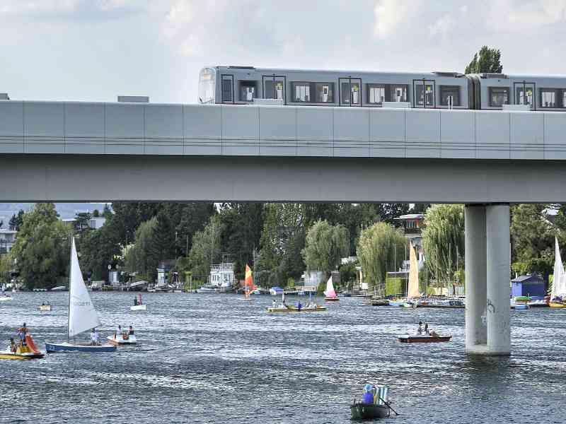 Das Fahren mit der U-Bahn ist besonders klimaschonend und nur für 5% der CO2-Äquivalent-Emissionen verantwortlich.