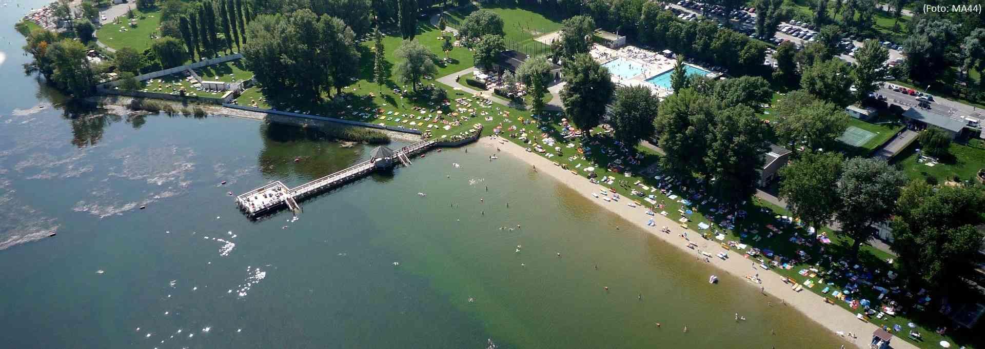 Das Strandbad Alte Donau von oben (Foto: MA44)