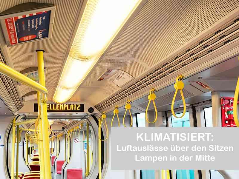 Luftauslassdüsen im klimatisierten ULF
