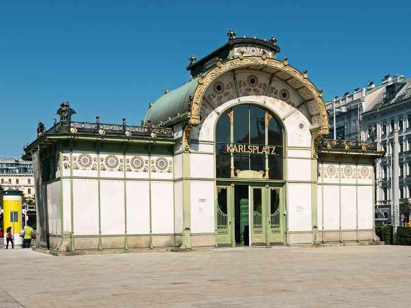 Der Pavillion am Karlsplatz heute.