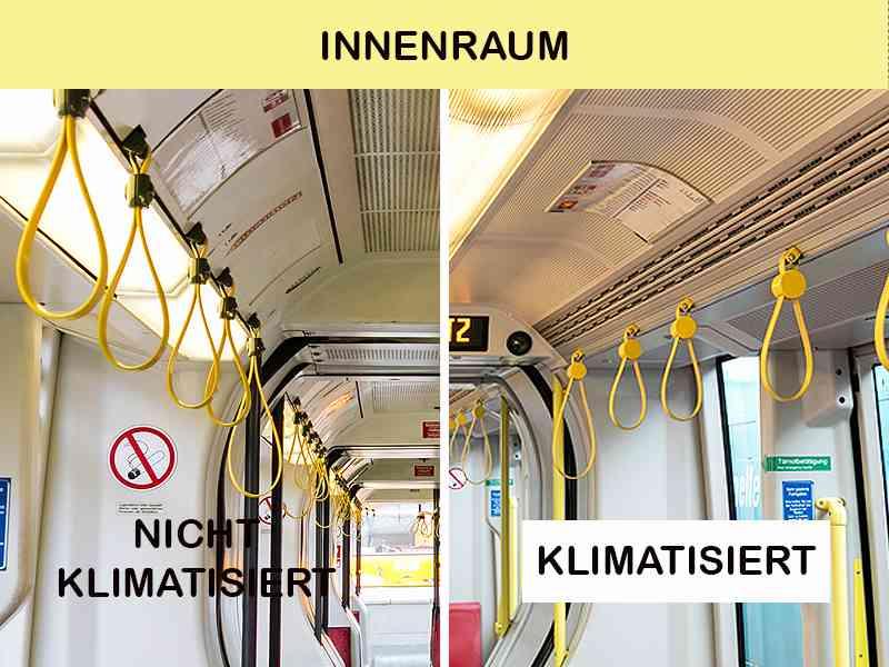 Innenraum: ULF mit und ohne Klimaanlage