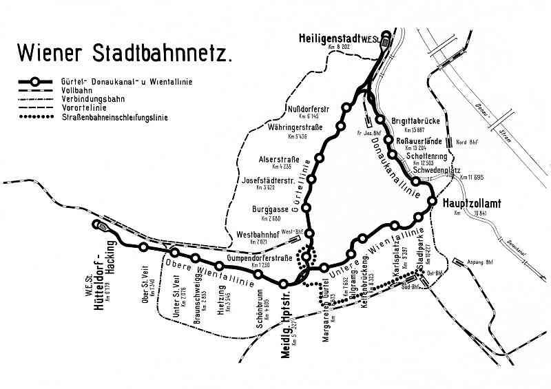 Auf den Trassen der Stadtbahn von Otto Wagner fahren heute U4 und U6.