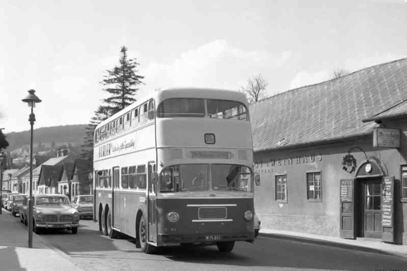 Auf der Linie 39A verkehrten Doppeldeckerbusse.