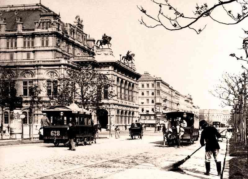 Die Pferdetramway fuhr bis ins Jahr 1903 in Wien.