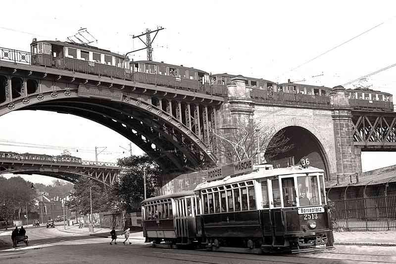 Die Linie 36 fuhr bis 1973 zur Börse.