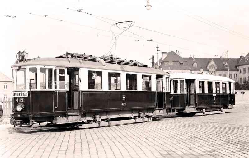 Die Linie 62 fährt heute noch vom Kärntner Ring nach Lainz.