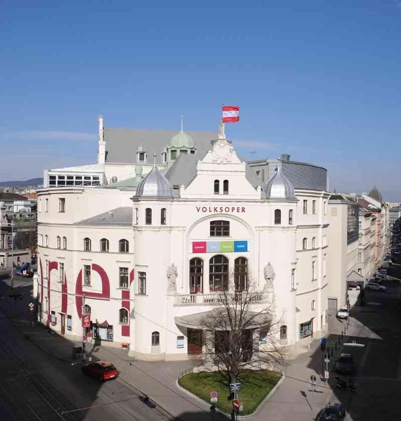 Die Volksoper liegt direkt an der Station Währinger Straße. (C) Volksoper Wien