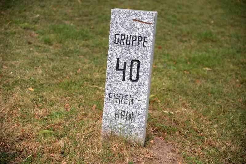 In Gruppe 40 des Ehrenhain liegt das Grab von Falco.