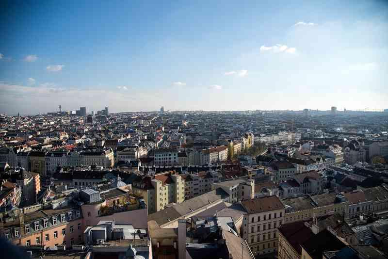 """Vom Café """"ocean'sky"""" hat man einen wunderschönen Ausblick auf ganz Wien."""