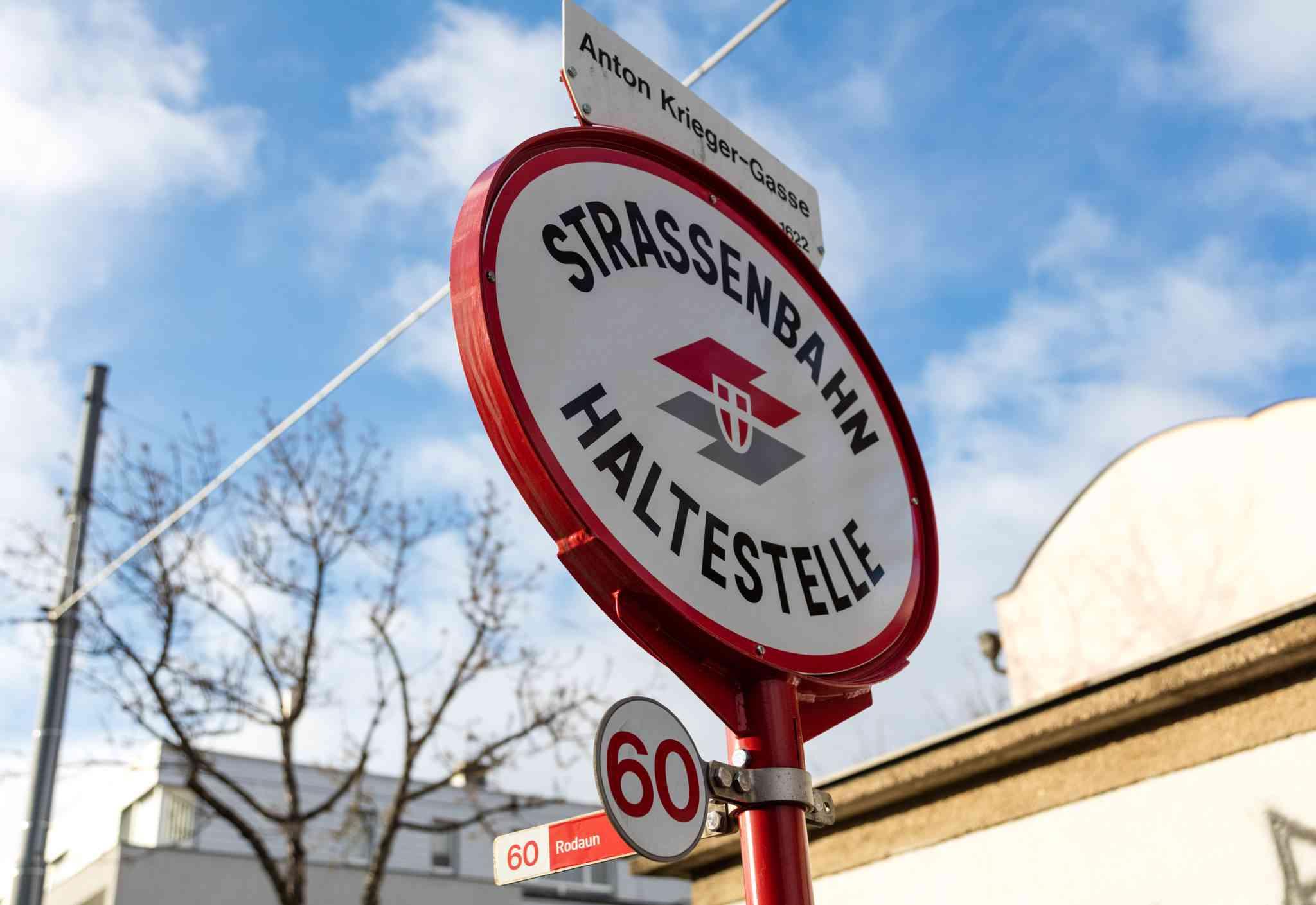 Bei der Station Anton-Krieger-Gasse befindet sich der höchste Punkt im gesamten Straßenbahnnetz.