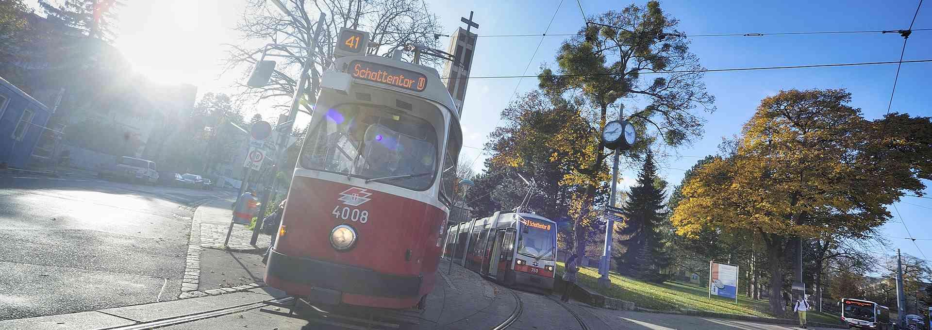 41er Richtung Schottentor, Wiener Linien