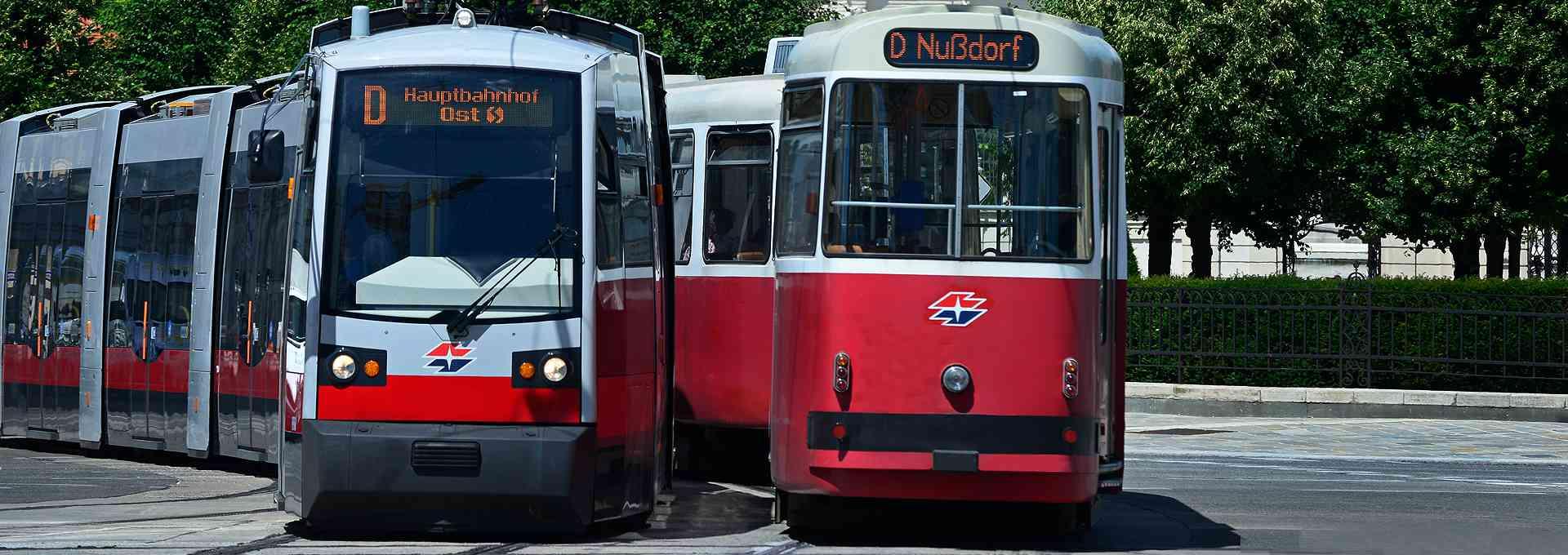 Die Linie D fährt vom Hauptbahnhof bis nach Nußdorf.