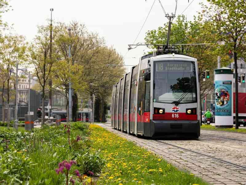 Fakt: Die Straßenbahnlinie 18 durchquert insgesamt 8 Wiener Bezirke.