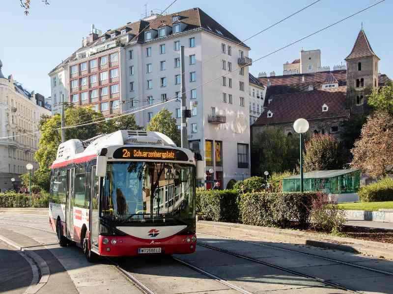 Auf Platz drei der kürzesten Busstrecken: Die Linie 2A fährt auf einer Strecke von 2,4 Kilometern.