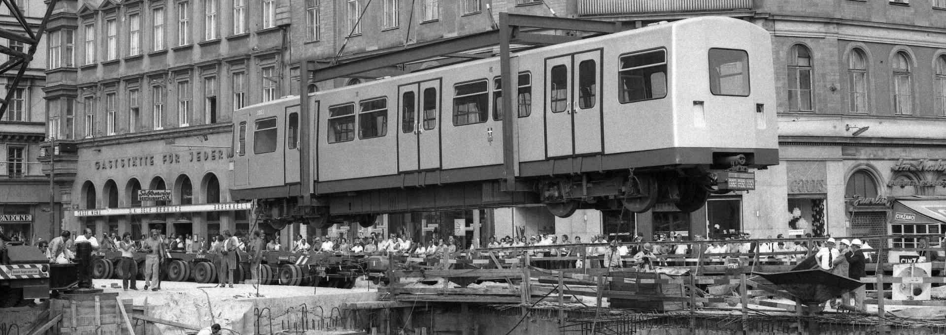 50 Jahre Spatenstich U-Bahn Wien: U-Bahn-Baustelle historisch 1973