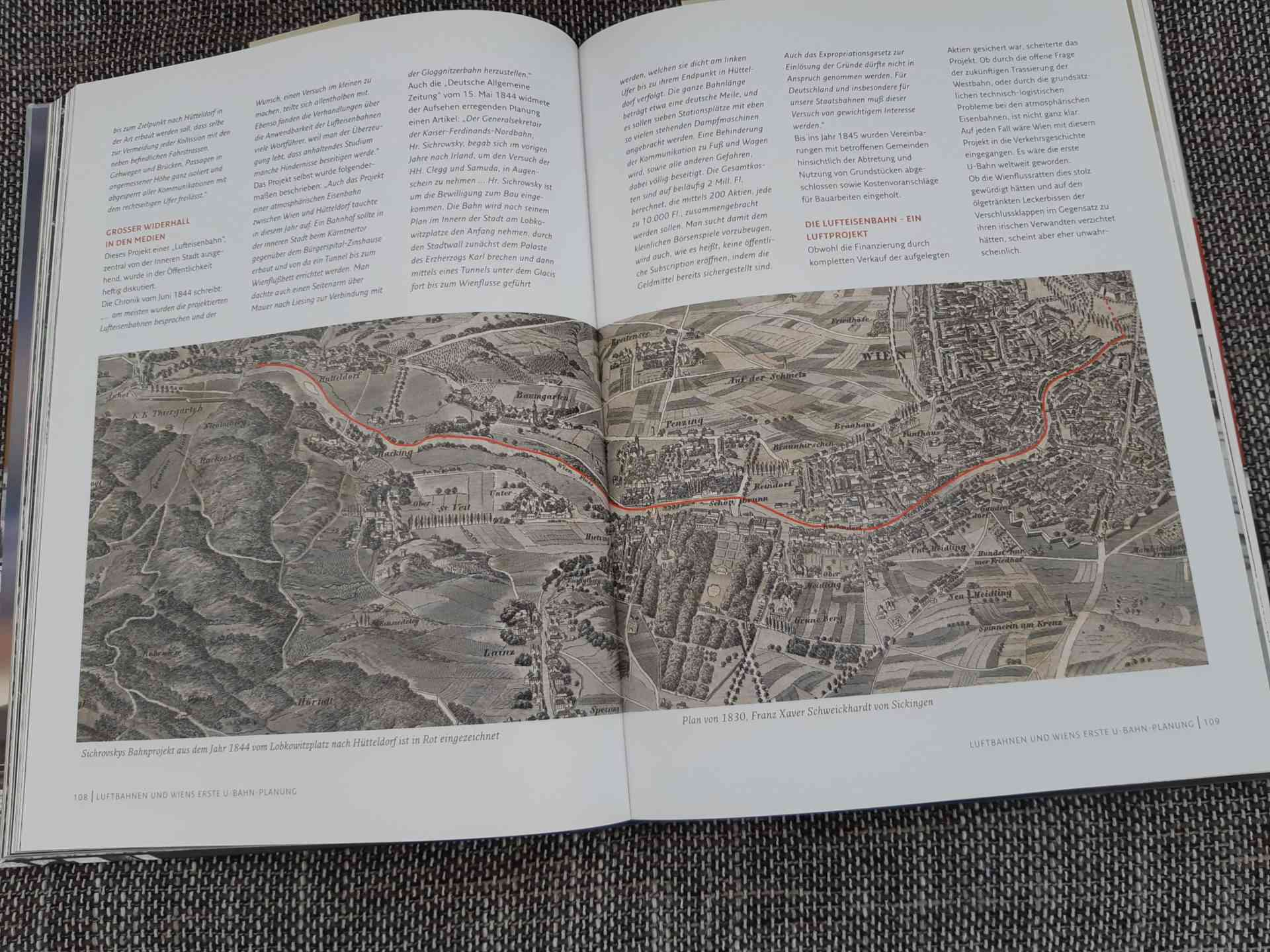 50 Jahre Spatenstich U-Bahn Wien: U-Bahn-Plan aus 1844