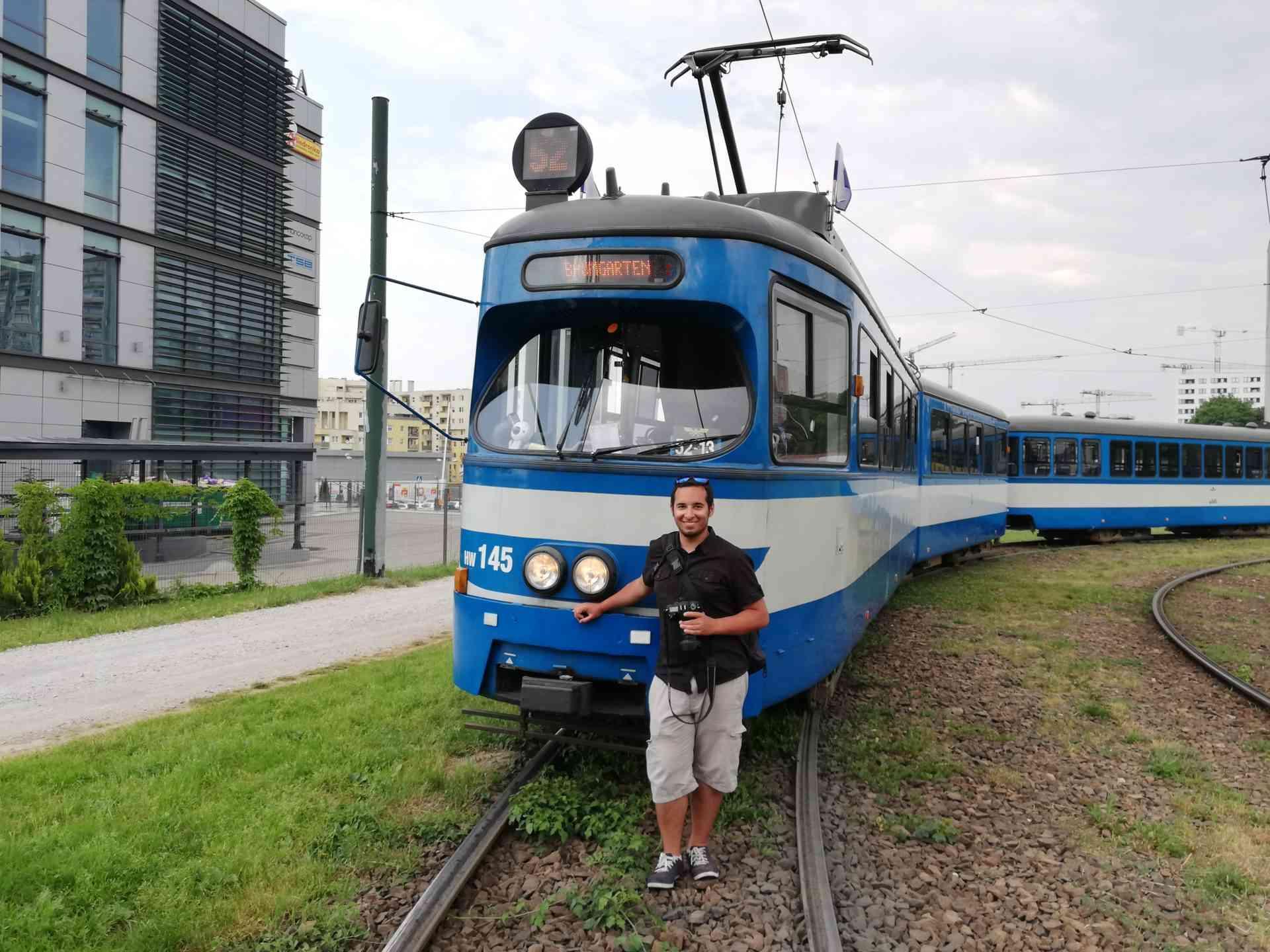 Krakau - alte Wiener Straßenbahnen